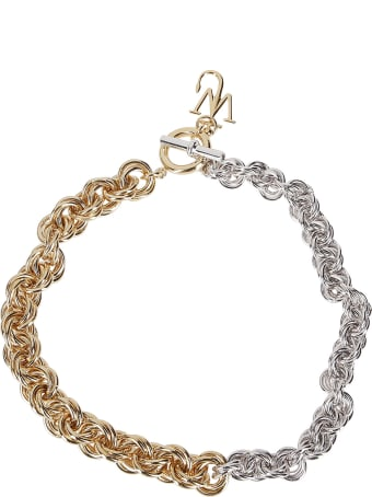 J.W. Anderson Silver-gold-tone Brass Necklace