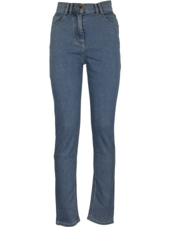 Balmain High-rise Jeans Skinny L.blue Trousers
