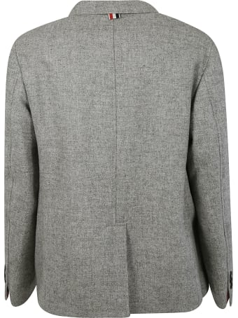 Thom Browne Unconstructed Patch Pocket Sack Blazer