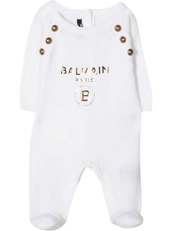 Balmain White Baby Suit