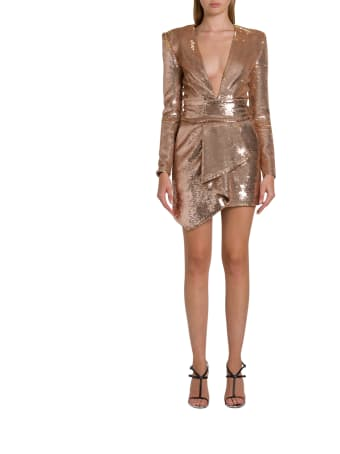 Alexandre Vauthier Short Sequin Dress