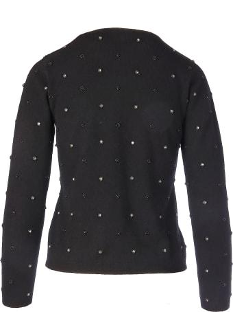 Max Mara Pianoforte Dolmen Pearls And Stone Sweater
