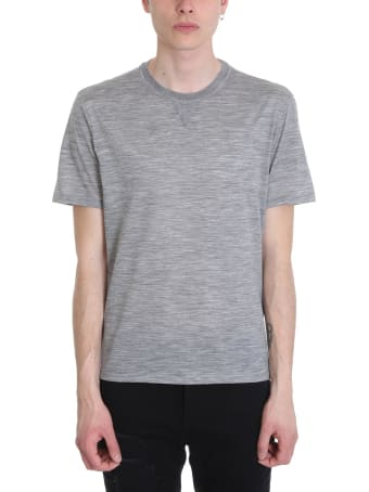Ermenegildo Zegna Grey Cotton T-shirt