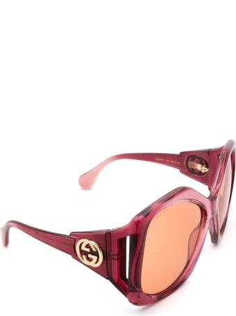 Gucci Gucci Gg0875s Burgundy Sunglasses