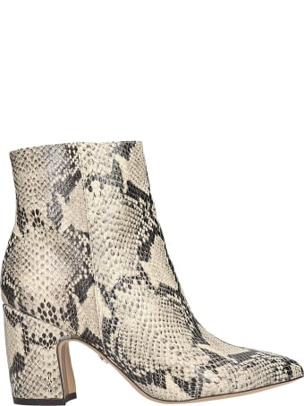 Sam Edelman Hilty Ankle Boots In Animalier Leather