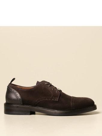 Brimarts Brogue Shoes Brimarts Derby In Suede With Brogue Motif