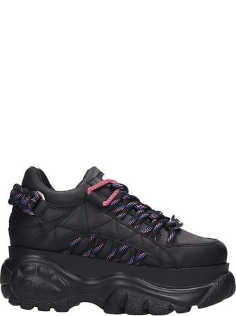 Buffalo 1352 Sneakers In Black Leather