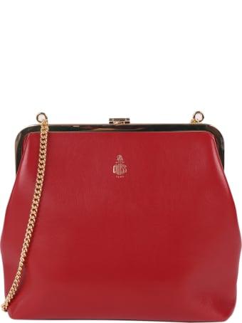 Mark Cross Red Susanna Frame Pouch Bag