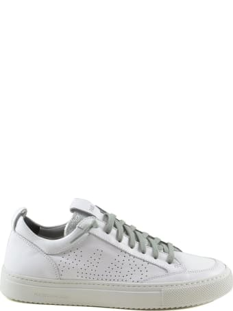 P448 White Perforated Leather Women's Sneakers