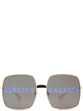 Gucci Gucci Gg0414s Gold Sunglasses