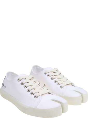 Maison Margiela Tabi Sneakers In White Canvas