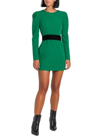 Parosh Short Dress With Puffed Sleeves