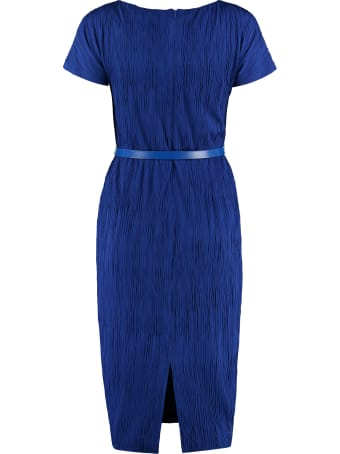 Max Mara Studio Golena Belted Sheath Dress