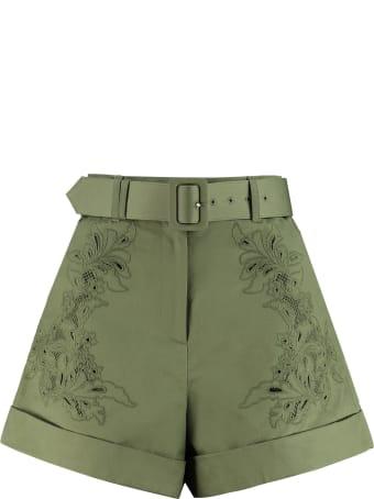 self-portrait Cotton Shorts