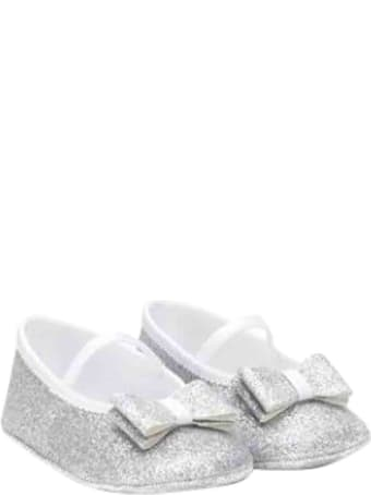 Monnalisa Baby Shoe With Bow Application