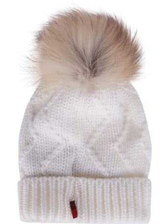 Woolrich Beige Wool Beanie Hat