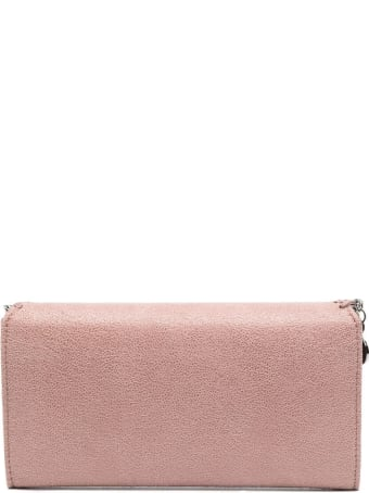 Stella McCartney Pink And Silver Continental Falabella Wallet