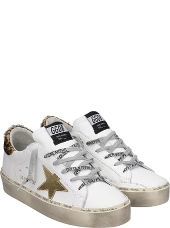 Golden Goose Hi-star Sneakers In White Leather