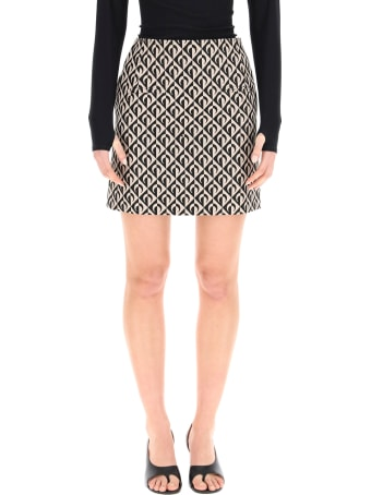 Marine Serre Half Moon Lozenge Mini Skirt