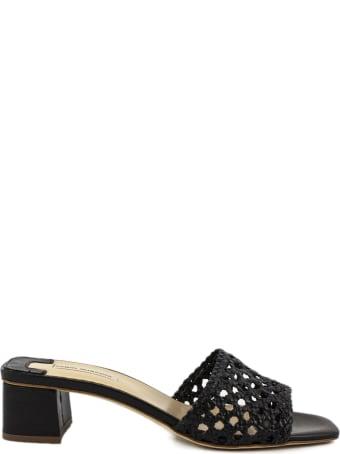 Fabio Rusconi Black Leather Sandal