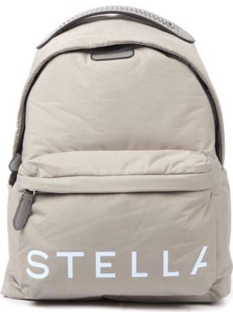 Stella McCartney Taupe Padde Nylon Backpack With Stella