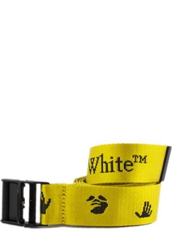 Off-White Yellow Industrial Logo Belt