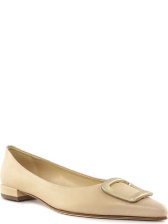 Fabio Rusconi Beige Leather Ballerina