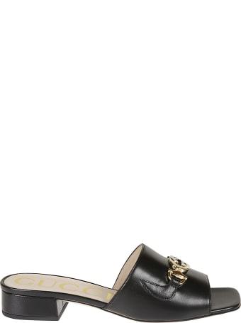 Gucci Metallic Detail Sliders