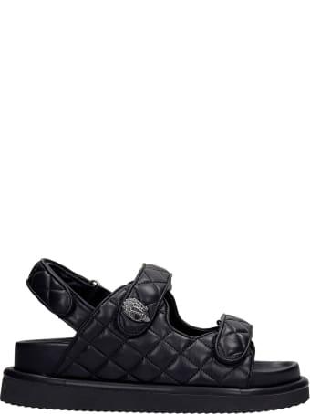 Kurt Geiger Orson Flats In Black Leather