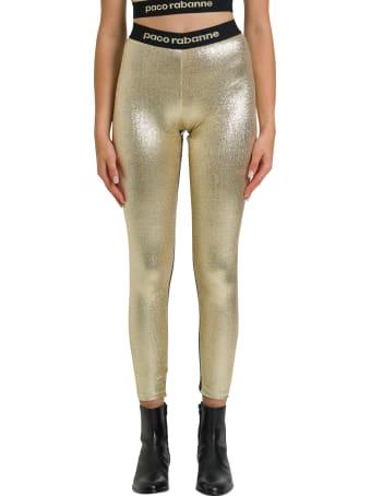 Paco Rabanne Metallic Gold Leggings