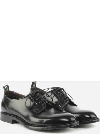 Green George Black Leather Lace-ups