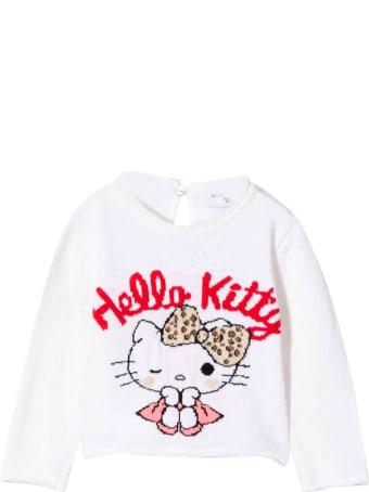 Monnalisa Newborn White Sweatshirt