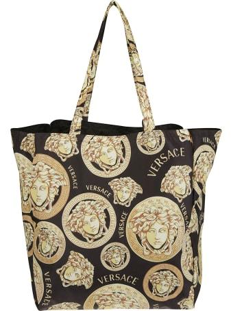 Versace Multi Medusa Logo Print Tote
