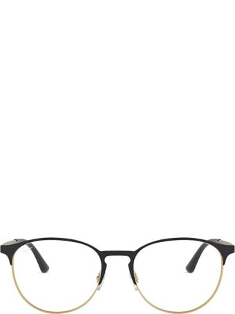 Ray-Ban Ray-ban Rx6375 Matt Black On Rubber Gold Glasses