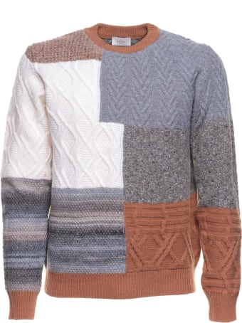 Altea Altea Crew-neck Patchwork Jumper