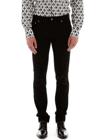 Dolce & Gabbana Destroyed Skinny Jeans