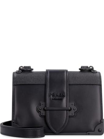 Prada Prada Cahier Leather Shoulder Bag