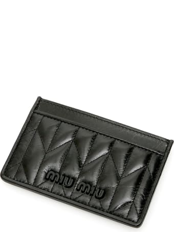 Miu Miu Quilted Calfskin Cardholder