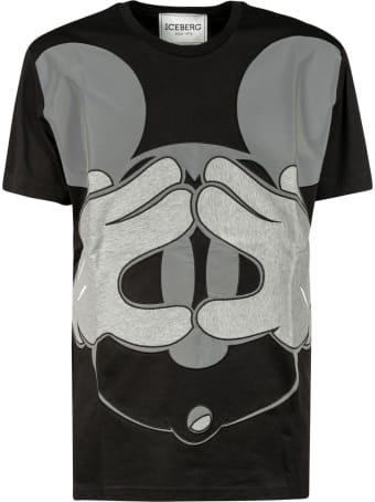 Iceberg Mickey Mouse Print T-shirt