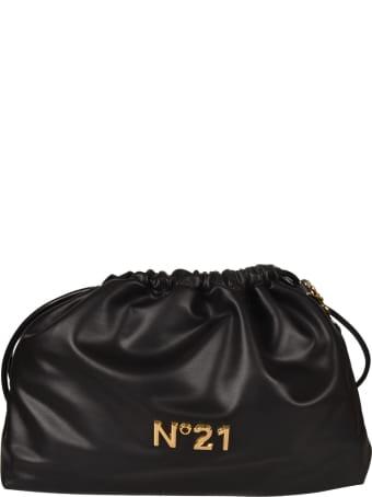 N.21 Logo Plaque Drawstring Bucket Bag