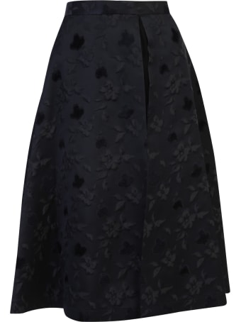 Noir Kei Ninomiya Jacquard Skirt With Tulle Insert