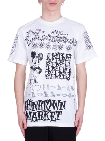 Chinatown Market Doodle Print T-shirt - White