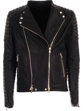 Balmain Leather Buccle Jacket