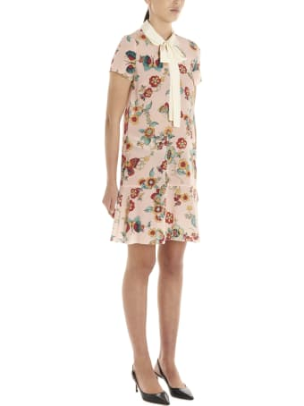 RED Valentino 'flower & Butterfly' Dress