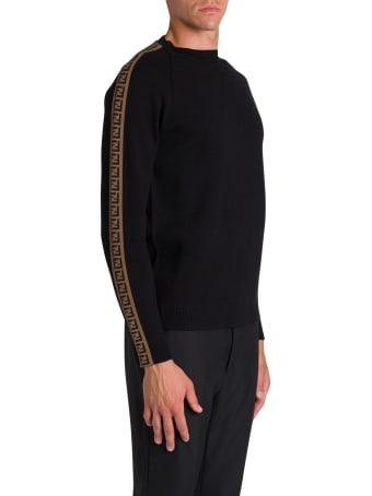 Fendi Maglia Girocollo Ff Stripes Knit