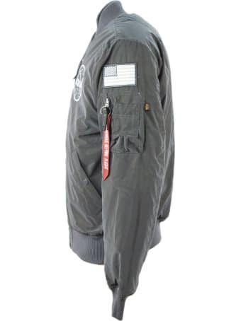 Alpha Industries Grey Nasa Bomber Jacket
