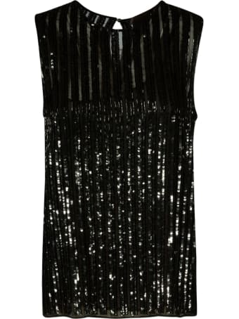 Max Mara Pianoforte Sequin Ribbed Top