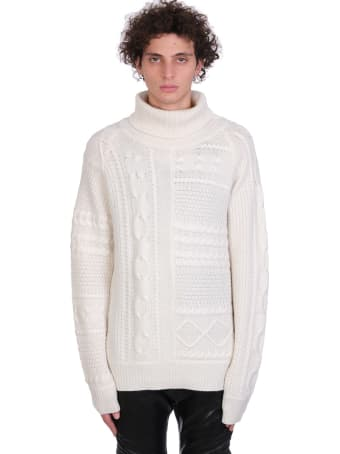 Jacob Lee Knitwear In White Cashmere