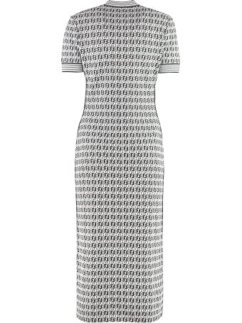 Fendi Jacquard Midi Dress