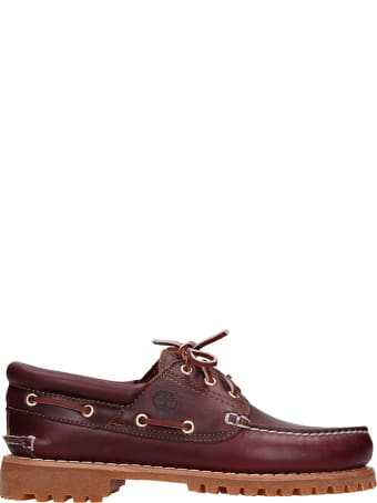 Timberland Authentic  Loafers In Bordeaux Leather